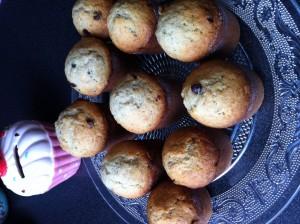 Muffins choco bananes