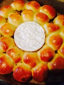 Brioche fleur farcie et au fromage